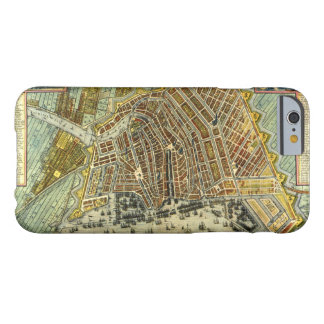 Coque iPhone 6 Barely There Carte antique d'Amsterdam, Hollande aka Pays-Bas