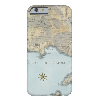 Coque iPhone 6 Barely There Carte du Golfe de Naples et d'abords