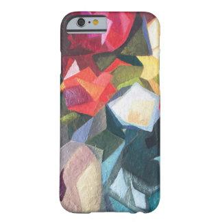 Coque iPhone 6 Barely There Cas abstrait floral lumineux de téléphone