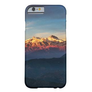 Coque iPhone 6 Barely There Cas chic de téléphone de montagnes de coucher du
