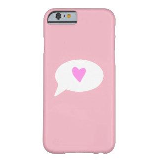 Coque iPhone 6 Barely There Cas de téléphone de bulle de coeur