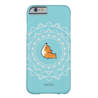Coque iPhone 6 Barely There Cas de téléphone de corgi de Namaste