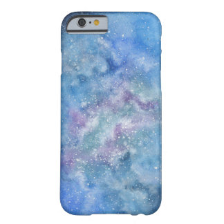 Coque iPhone 6 Barely There Cas de téléphone de galaxie d'aquarelle