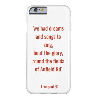 Coque iPhone 6 Barely There Cas de téléphone de LFC - les champs sur Anfield