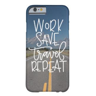 Coque iPhone 6 Barely There Cas de téléphone de répétition de voyage