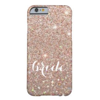 Coque iPhone 6 Barely There Cas de téléphone - jeune mariée ouvrière d'or rose