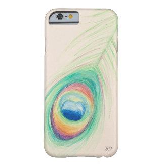 Coque iPhone 6 Barely There Cas de téléphone portable de plume de paon