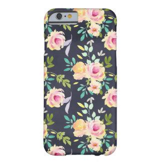 Coque iPhone 6 Barely There Cas floral de téléphone de pêche et de marine