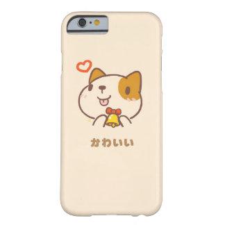 Coque iPhone 6 Barely There Cas mignon de téléphone de chien de Kawaii Inu
