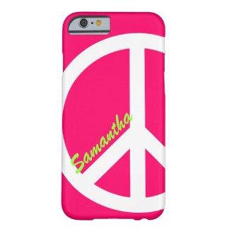 Coque iPhone 6 Barely There Cas rose de l'iPhone 6 de signe de paix
