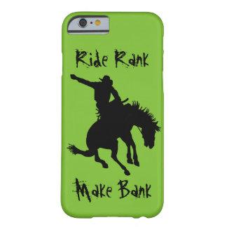 Coque iPhone 6 Barely There Cas s'opposant de rang de tour de cowboy de rodéo