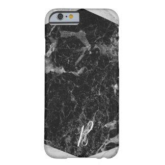 Coque iPhone 6 Barely There Charme Girly à la mode moderne de marbre noir et