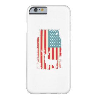 Coque iPhone 6 Barely There Chasseur américain de cerfs communs patriote pour