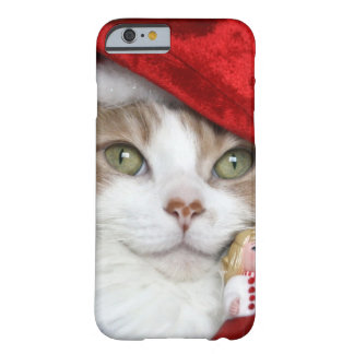 Coque iPhone 6 Barely There Chat de Père Noël - chat de Noël - chatons mignons