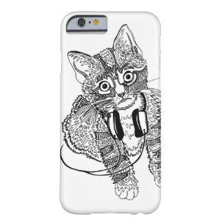 Coque iPhone 6 Barely There Chat noir et blanc drôle dans l'illustration