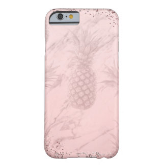 Coque iPhone 6 Barely There Chic tropical d'ananas de parties scintillantes
