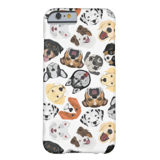 Coque iPhone 6 Barely There Chiens de motif d'illustration