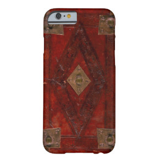 Coque iPhone 6 Barely There Conception en cuir rouge gravée médiévale de
