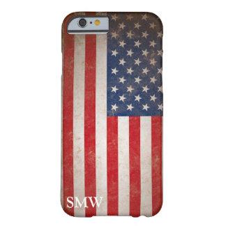 Coque iPhone 6 Barely There Conception patriotique de drapeau des Etats-Unis