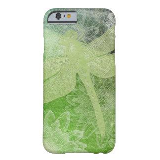 Coque iPhone 6 Barely There Conception verte de libellule et de fleur