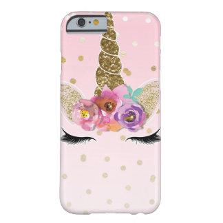 Coque iPhone 6 Barely There Confettis modernes à la mode floraux d'or de