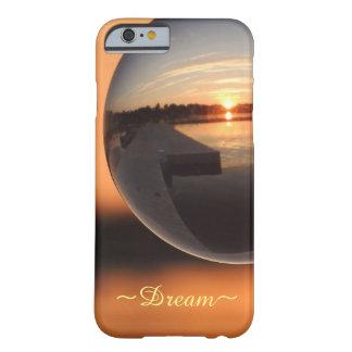 Coque iPhone 6 Barely There Coucher du soleil au-dessus de boule de cristal de