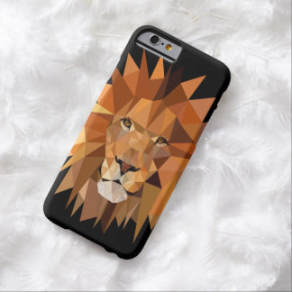 Coque iPhone 6 Barely There Coutume moderne de lion de polygone