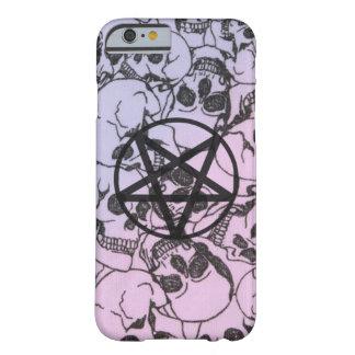 Coque iPhone 6 Barely There Crânes et pentagone étoilé en pastel : Couverture