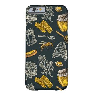 Coque iPhone 6 Barely There Cru foncé de jaune de ruche d'abeille de miel