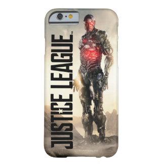 Coque iPhone 6 Barely There Cyborg de la ligue de justice   sur le champ de