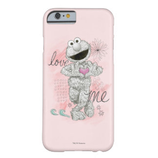 Coque iPhone 6 Barely There Dessin de croquis d'Elmo B&W