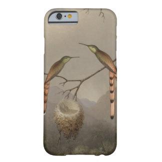 Coque iPhone 6 Barely There Deux colibris avec leurs jeunes