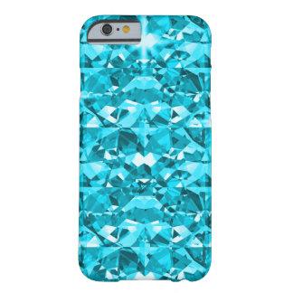 Coque iPhone 6 Barely There Diamants impressionnants d'Aqua