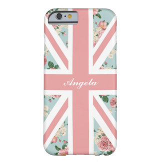 Coque iPhone 6 Barely There Drapeau anglais d'Union Jack de roses