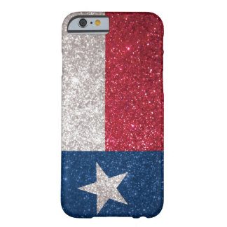 Coque iPhone 6 Barely There Drapeau du Texas de parties scintillantes de Faux