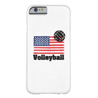 Coque iPhone 6 Barely There Drapeau Etats-Unis - femmes de volleyball d'hommes