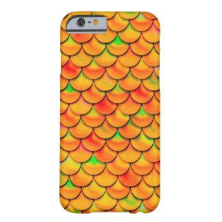 Coque iPhone 6 Barely There Échelles oranges et vertes de Falln