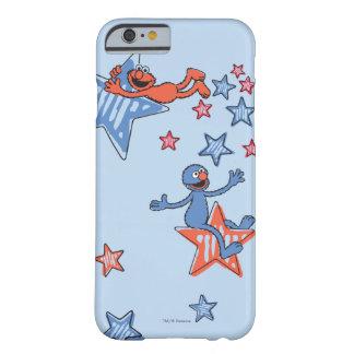 Coque iPhone 6 Barely There Elmo et Grover parmi les étoiles