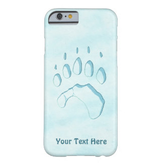 Coque iPhone 6 Barely There Empreinte de patte d'ours blanc
