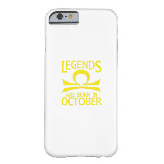 Coque iPhone 6 Barely There En octobre GIF soutenu d'anniversaire de signe de