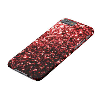 Coque iPhone 6 Barely There Étincelles rouges de scintillement de beau charme