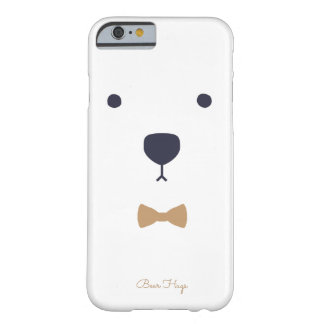 Coque iPhone 6 Barely There Étreintes d'ours blanc