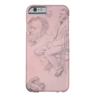 Coque iPhone 6 Barely There Étude d'Edgar Degas | pour le portrait d'Edouard