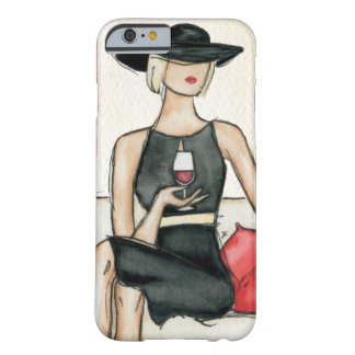 Coque iPhone 6 Barely There Femme buvant du vin rouge
