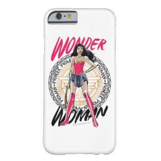 Coque iPhone 6 Barely There Femme de merveille avec l'emblème tribal grec