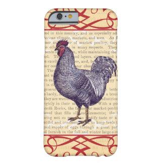 Coque iPhone 6 Barely There Ferme avicole de cru de coq de Plymouth Rock