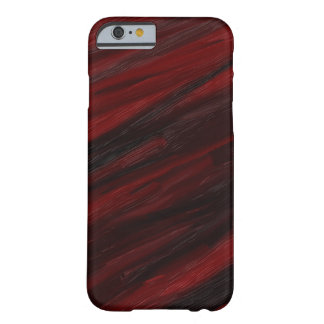Coque iPhone 6 Barely There Filets diagonaux rouges et noirs