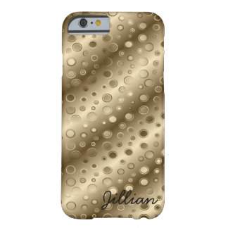 Coque iPhone 6 Barely There Filets et bulles diagonaux d'or
