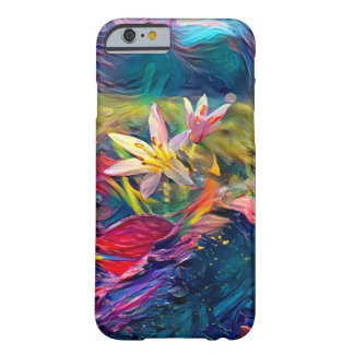 Coque iPhone 6 Barely There Fleur artistique