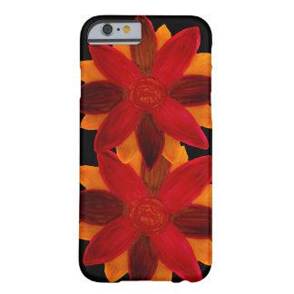 Coque iPhone 6 Barely There Fleurs de rouge de cas de téléphone